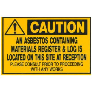 Asbestos Audits Queensland AAQ PL - Asbestos Containing Materials Sign