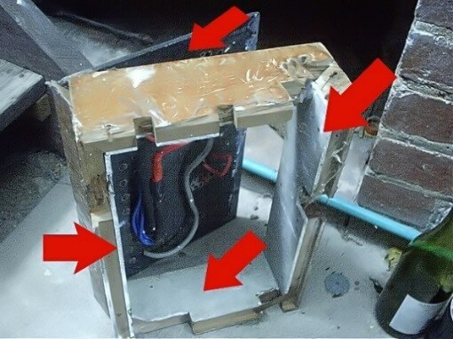 Asbestos Audits Queensland AAQ PL -Electrical Box with Asbestos