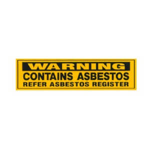 Asbestos Audits Queensland -AAQ PL - Warning Contains Asbestos Refer Asbestos Register