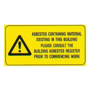 Main Entrance(s) Asbestos Register Reminder sign (110 x 40)