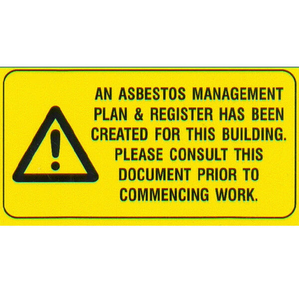 Asbestos Register Notification Sign (190 x 100)