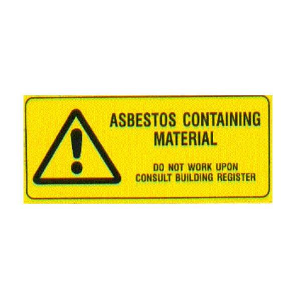 Asbestos containing materials label (115 x 50)