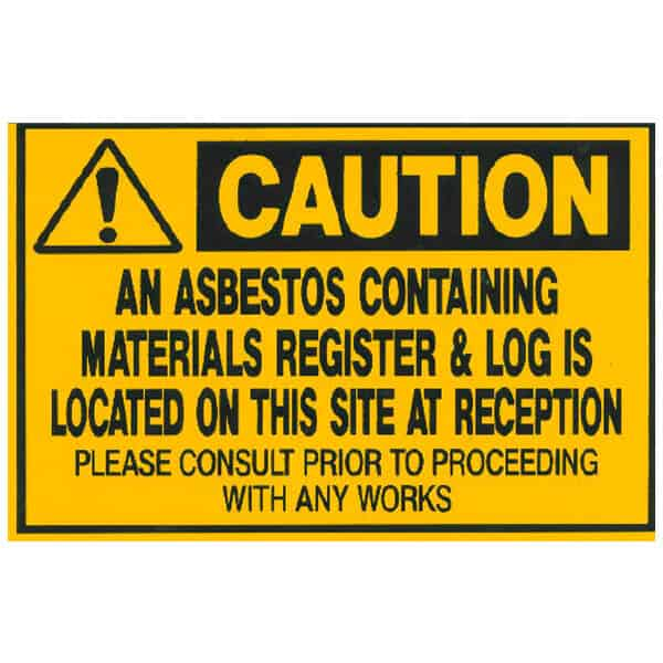 Asbestos Audits Queensland AAQ PL - Asbestos Containing Materials Sign