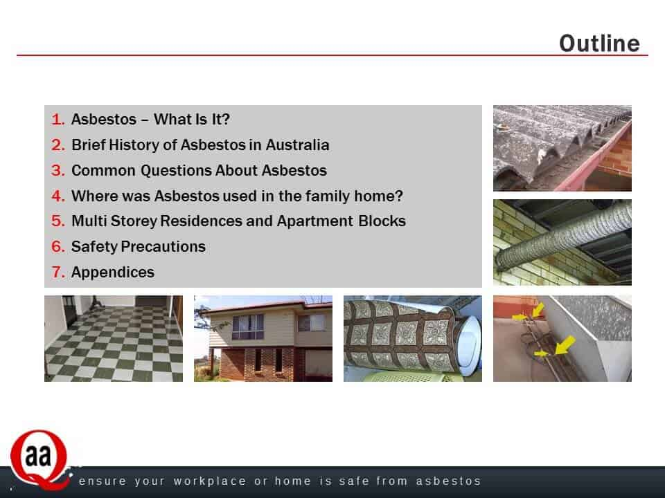 Asbestos Audits Queensland AAQ PL - Identifying Asbestos in your Home Training